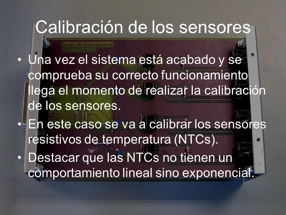 Calibración de los sensores