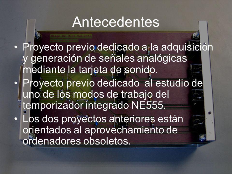 Antecedentes Proyecto previo dedicado a la adquisición y generación de señales analógicas mediante la tarjeta de sonido.