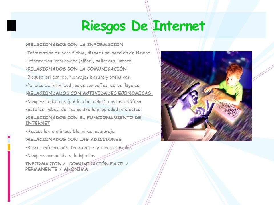 Riesgos De Internet RELACIONADOS CON LA INFORMACION