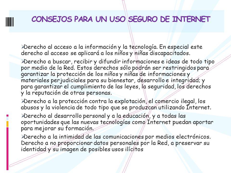 CONSEJOS PARA UN USO SEGURO DE INTERNET