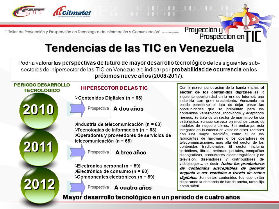 2010 2011 2012 Tendencias de las TIC en Venezuela