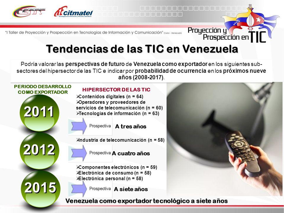 2011 2012 2015 Tendencias de las TIC en Venezuela