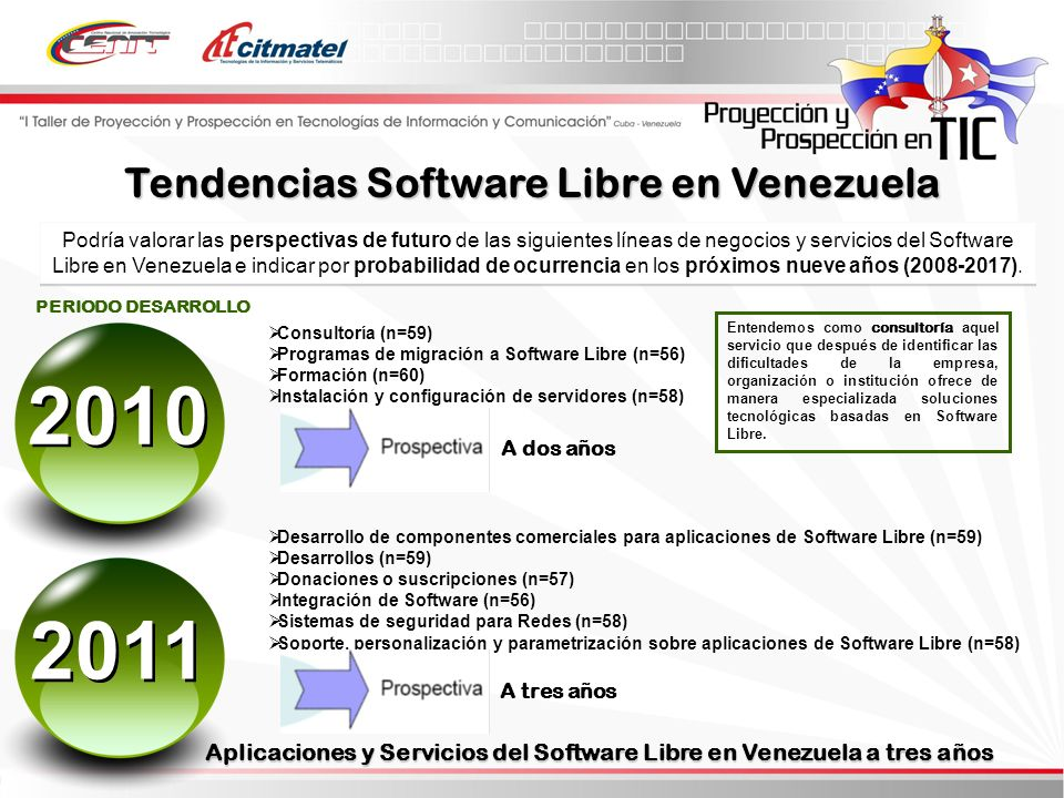 2010 2011 Tendencias Software Libre en Venezuela