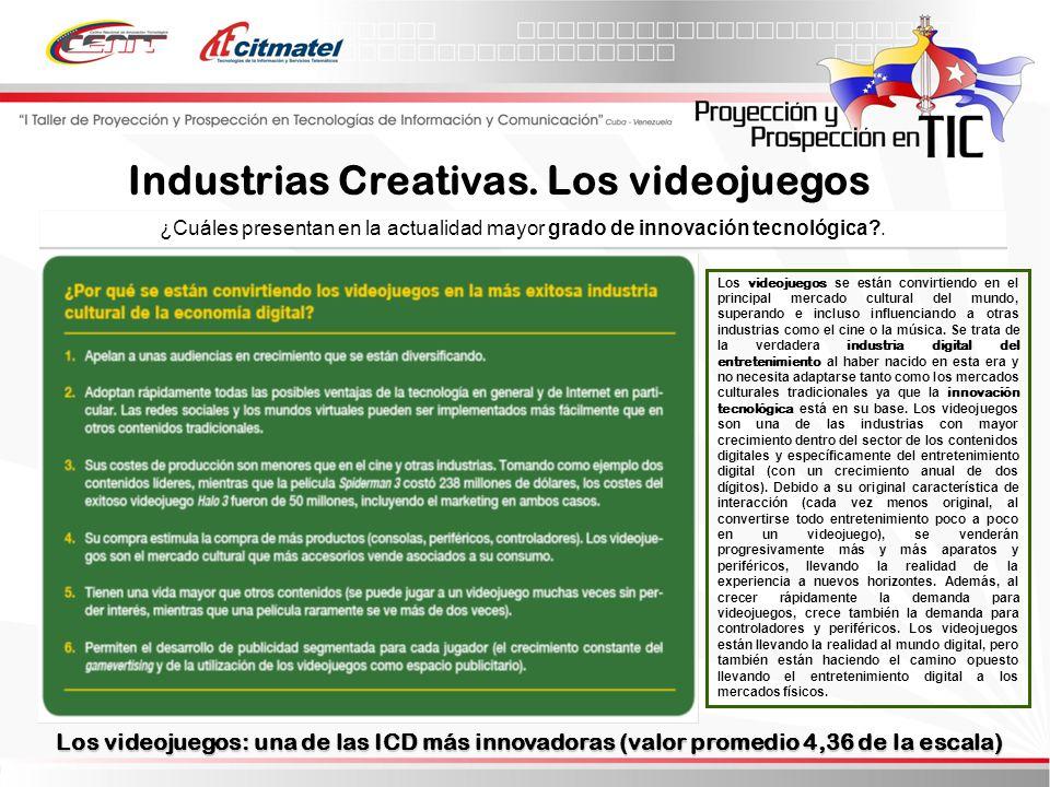 Industrias Creativas. Los videojuegos