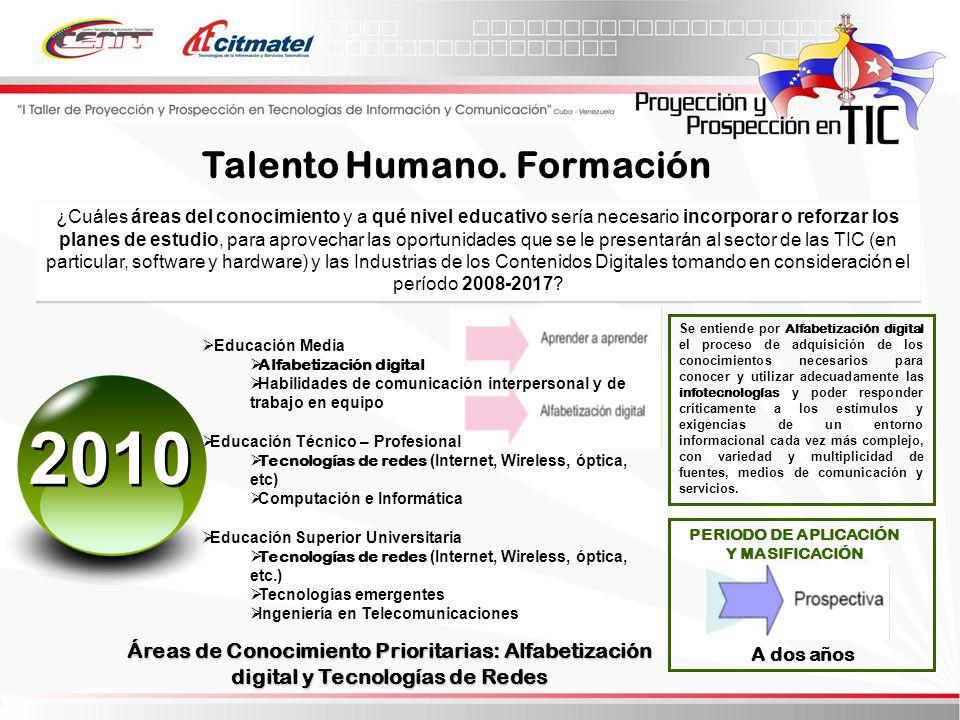 Talento Humano. Formación