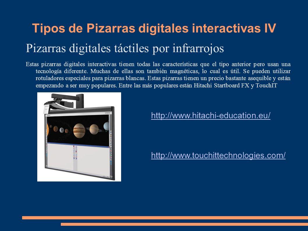 Tipos de Pizarras digitales interactivas IV