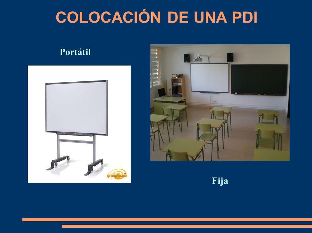 COLOCACIÓN DE UNA PDI Portátil Fija
