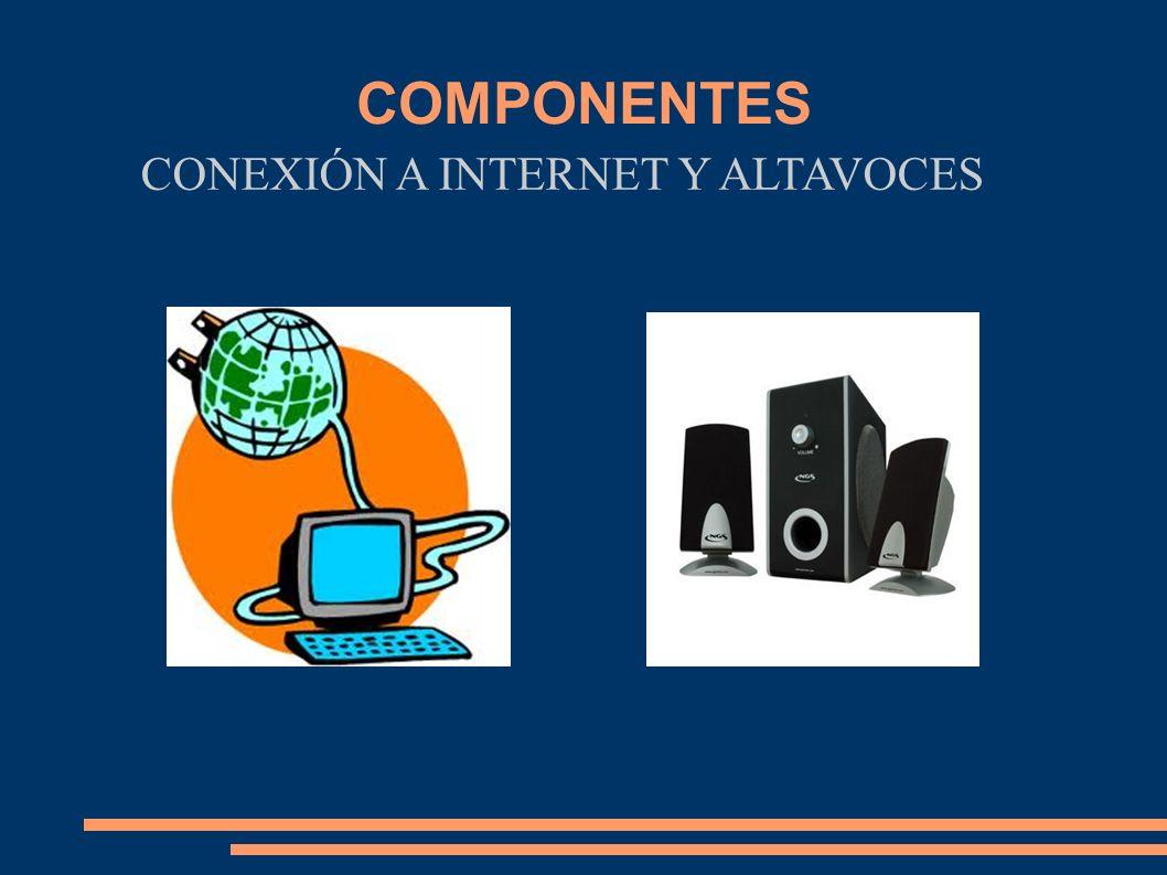 CONEXIÓN A INTERNET Y ALTAVOCES