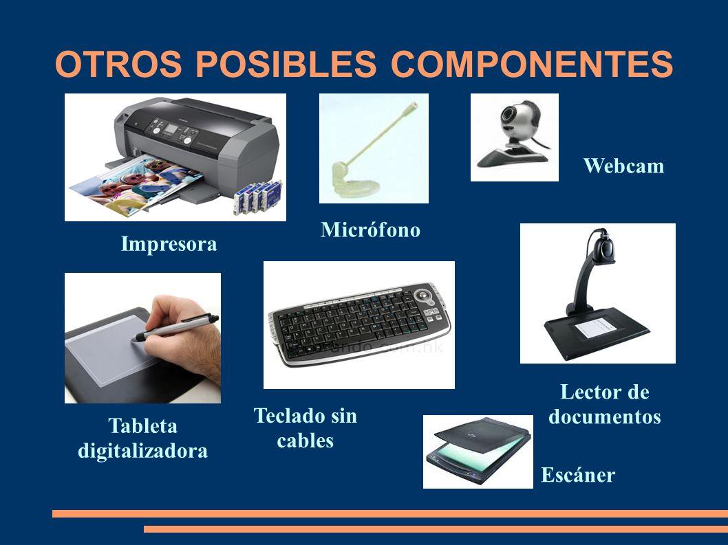 OTROS POSIBLES COMPONENTES Tableta digitalizadora