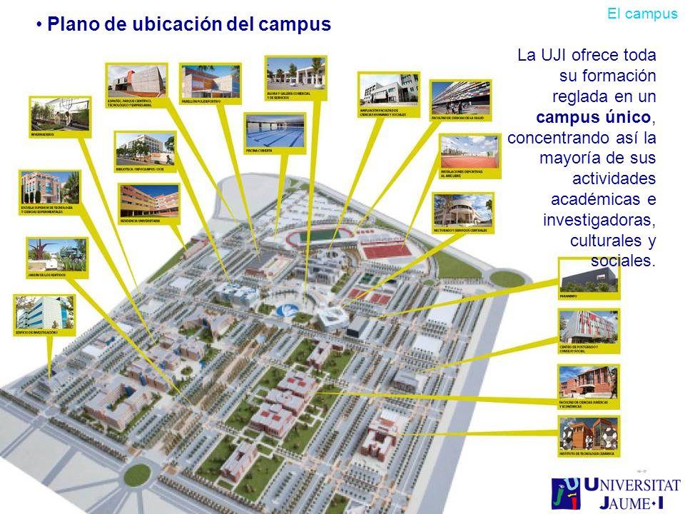 Plano de ubicación del campus