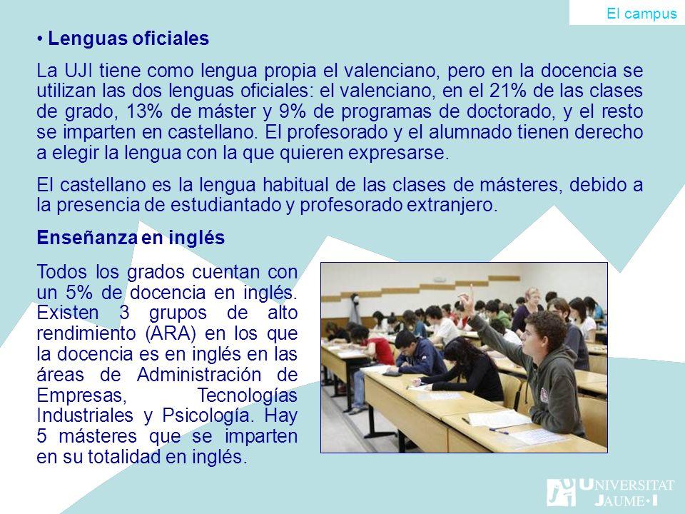 El campus Lenguas oficiales.