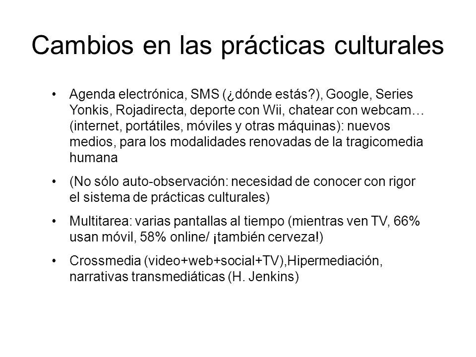 Cambios en las prácticas culturales
