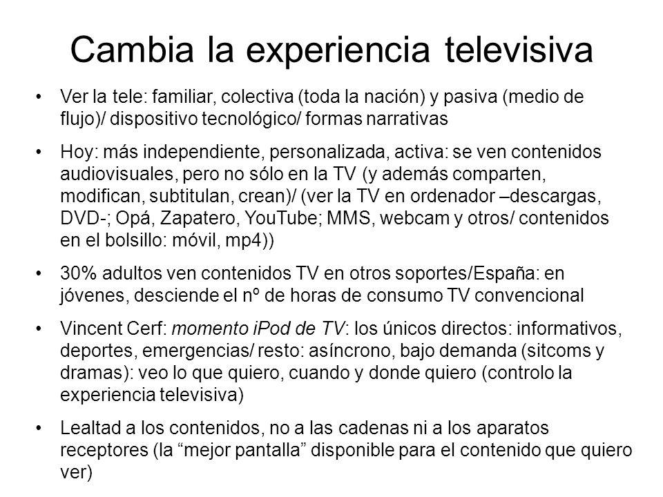 Cambia la experiencia televisiva