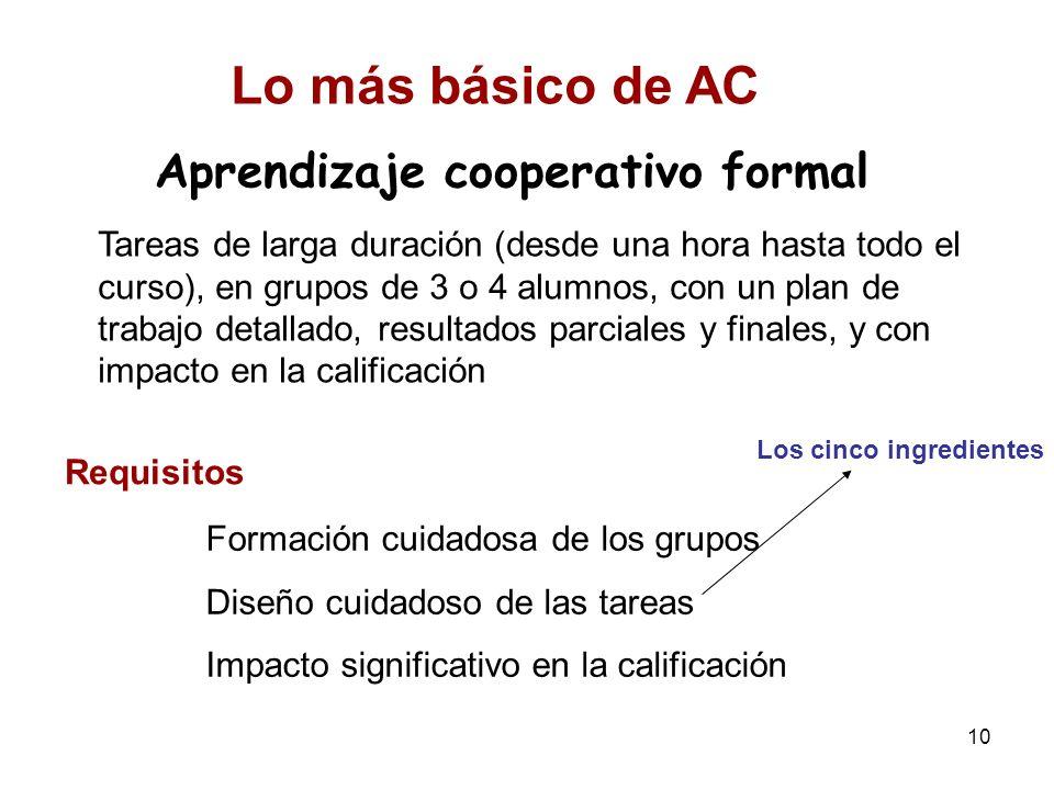 Aprendizaje cooperativo formal
