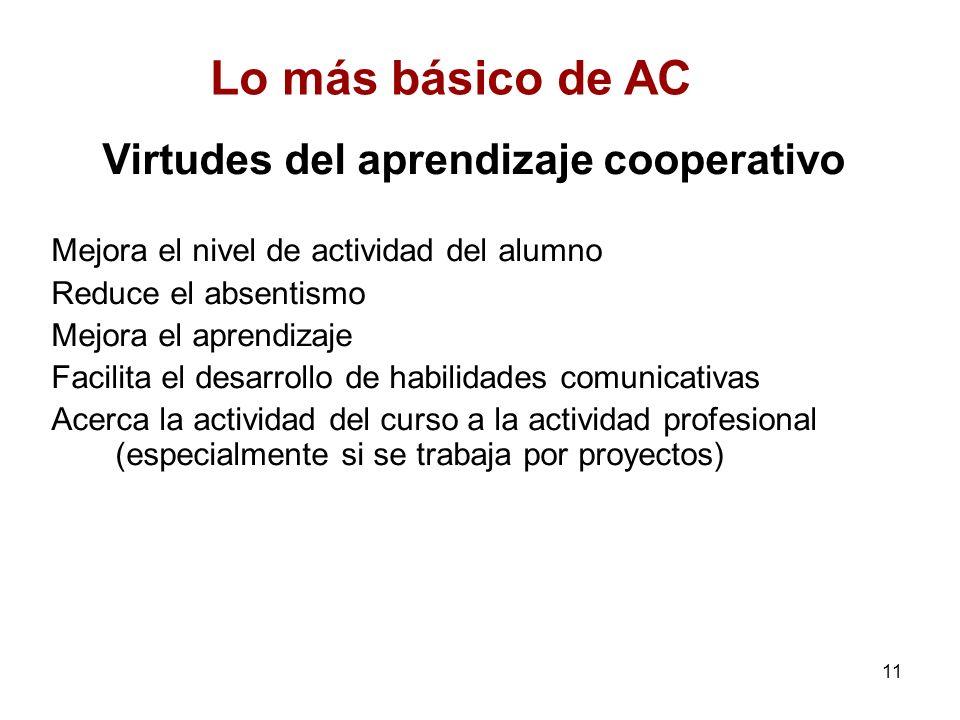 Virtudes del aprendizaje cooperativo