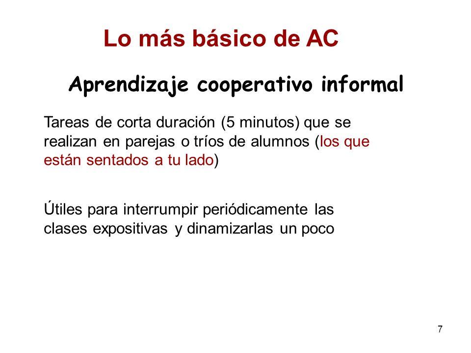 Aprendizaje cooperativo informal