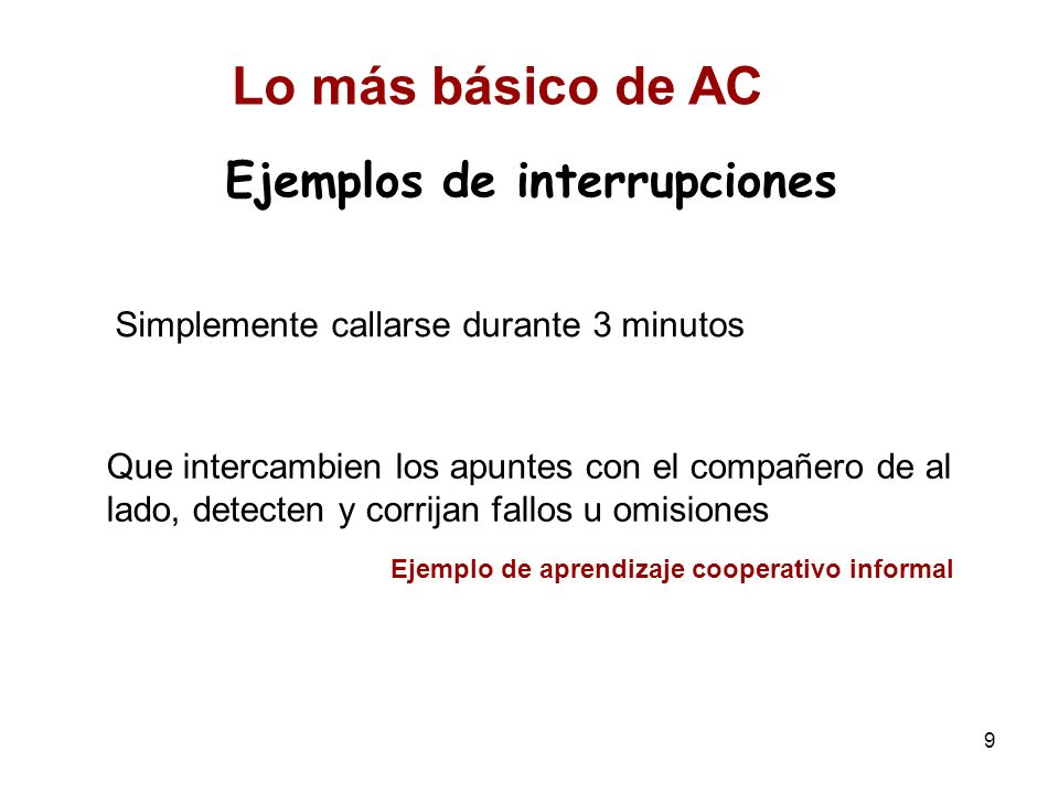 Ejemplos de interrupciones