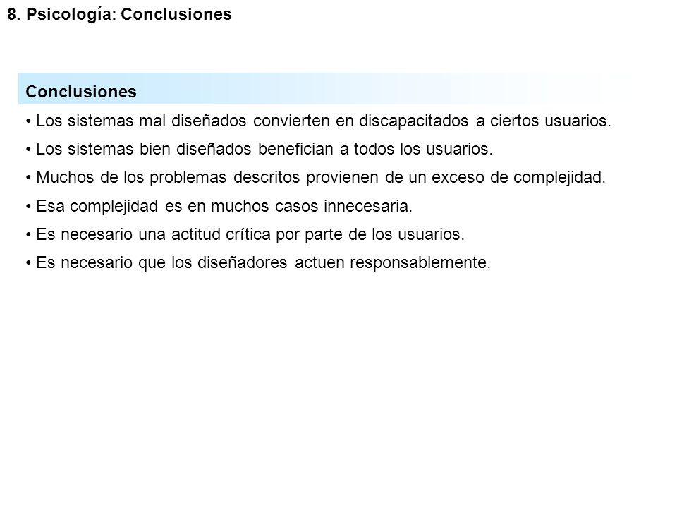 8. Psicología: Conclusiones