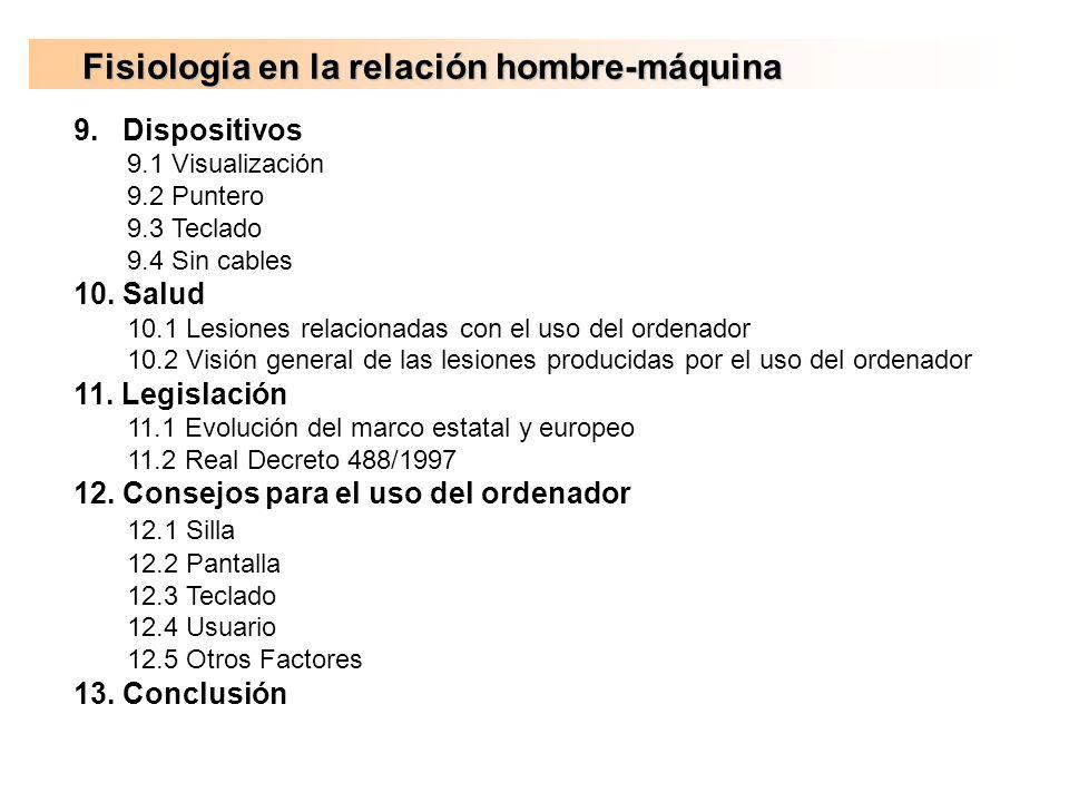 Fisiología en la relación hombre-máquina