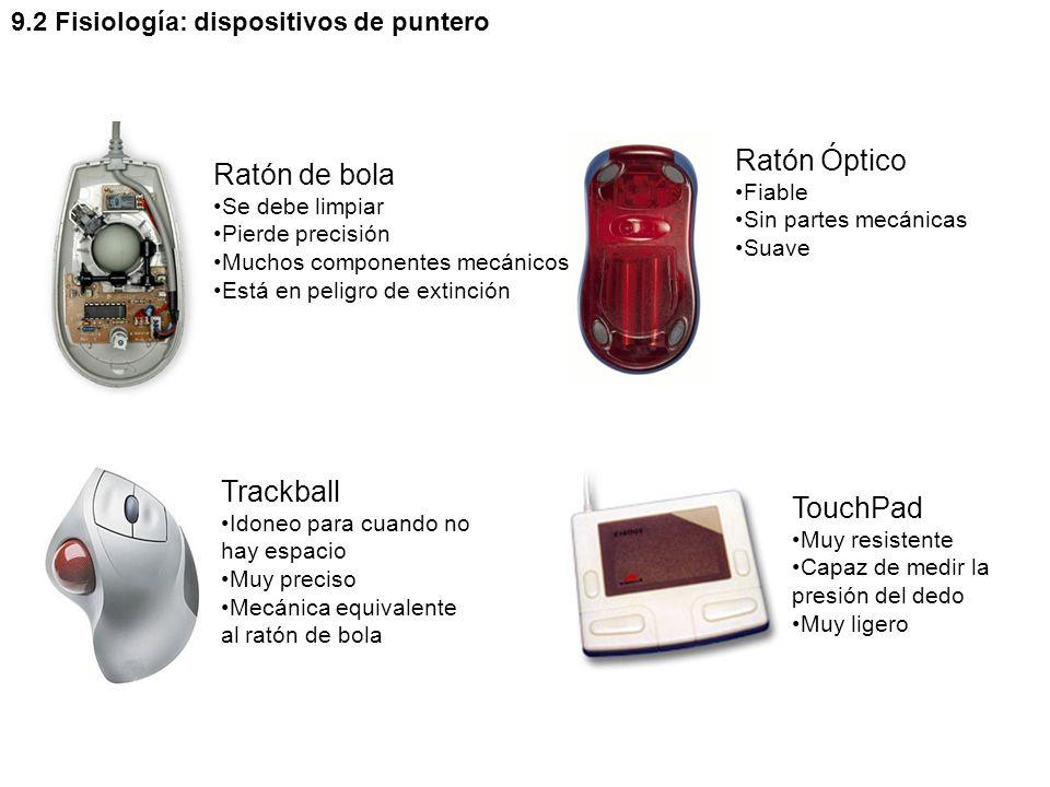 Ratón Óptico Ratón de bola Trackball TouchPad