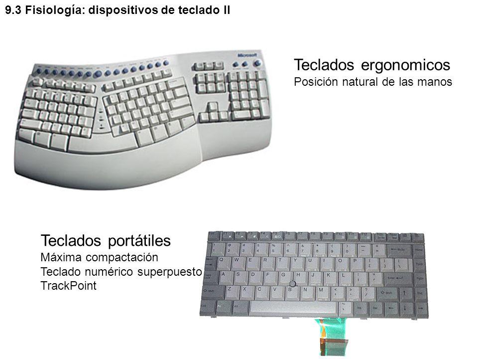 Teclados ergonomicos Teclados portátiles