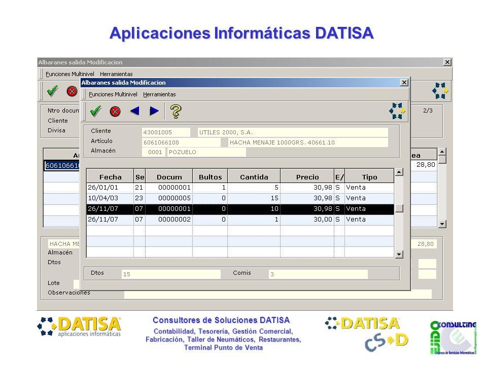 Aplicaciones Informáticas DATISA Consultores de Soluciones DATISA