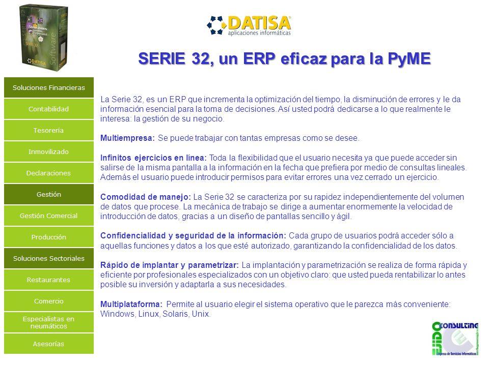 SERIE 32, un ERP eficaz para la PyME