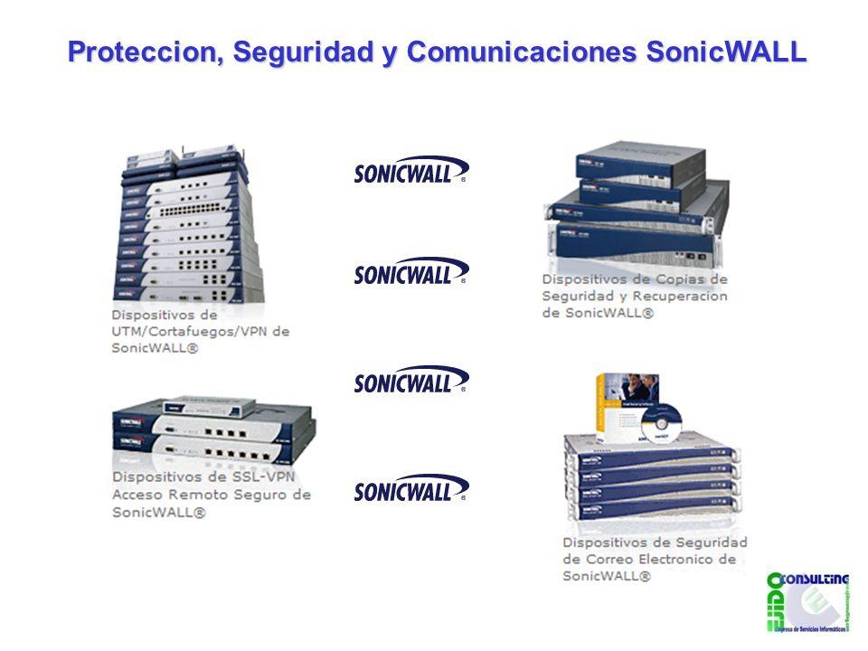 Proteccion, Seguridad y Comunicaciones SonicWALL