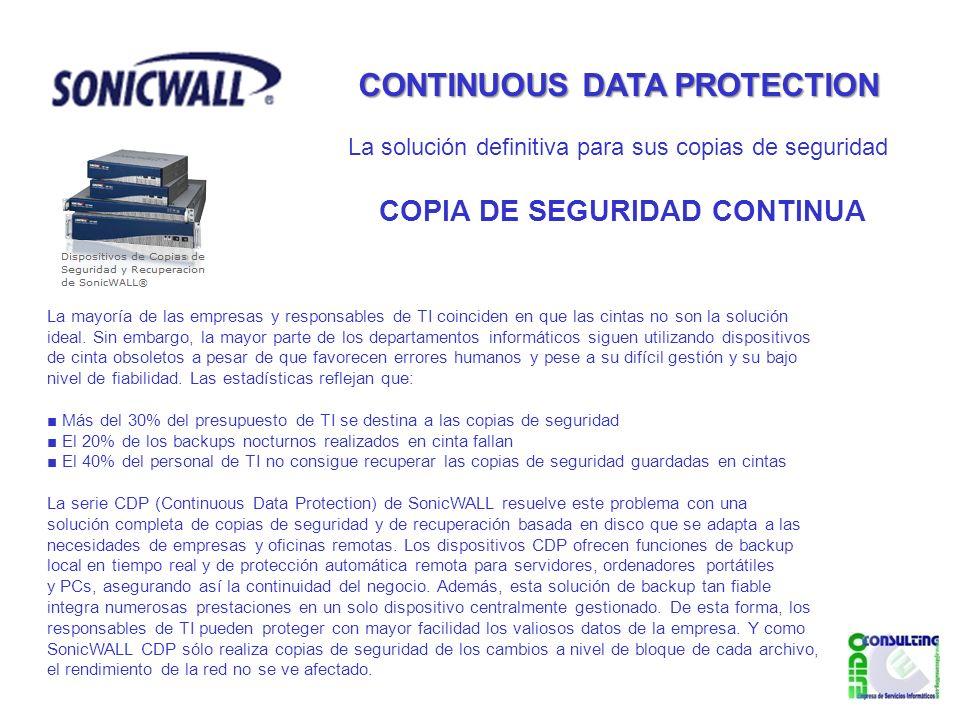 CONTINUOUS DATA PROTECTION COPIA DE SEGURIDAD CONTINUA