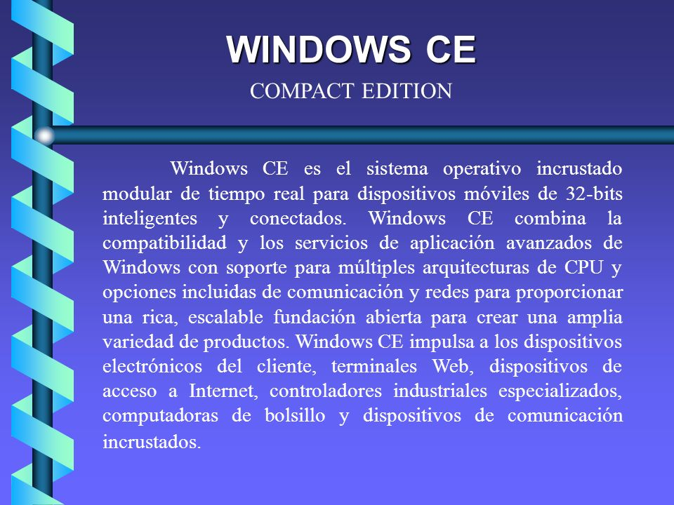 WINDOWS CE COMPACT EDITION