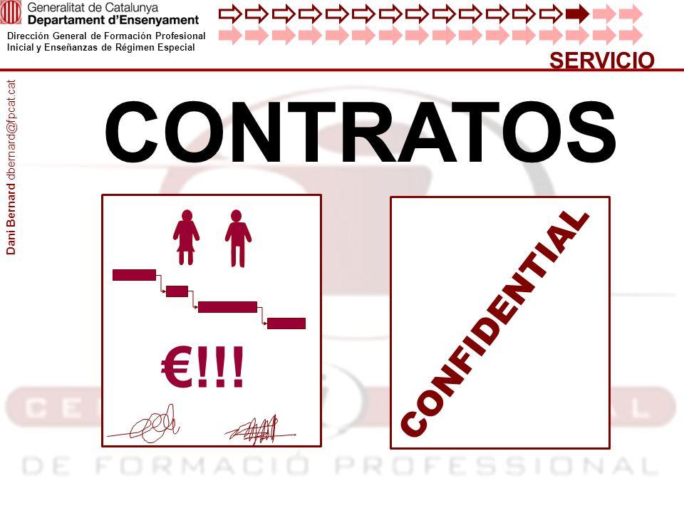SERVICIO CONTRATOS CONFIDENTIAL Dani Bernard dbernard@fpcat.cat €!!!