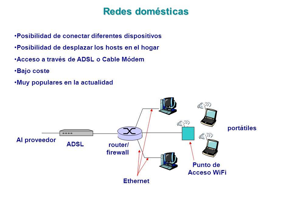 Redes domésticas Posibilidad de conectar diferentes dispositivos