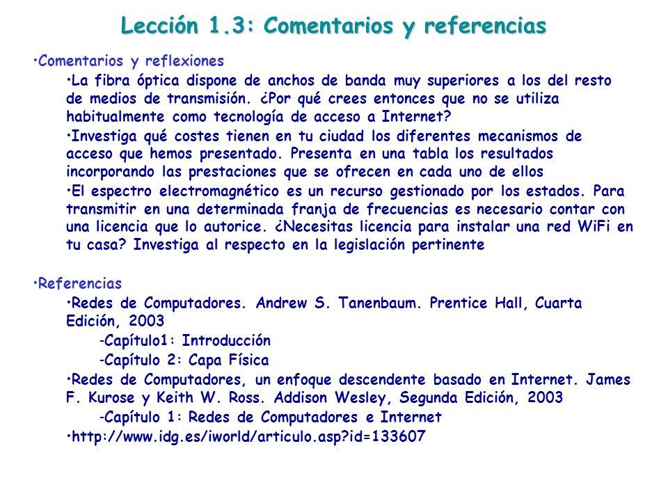 Lección 1.3: Comentarios y referencias
