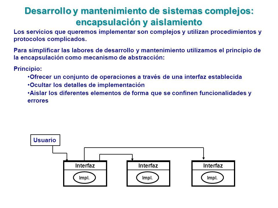 Desarrollo y mantenimiento de sistemas complejos: encapsulación y aislamiento