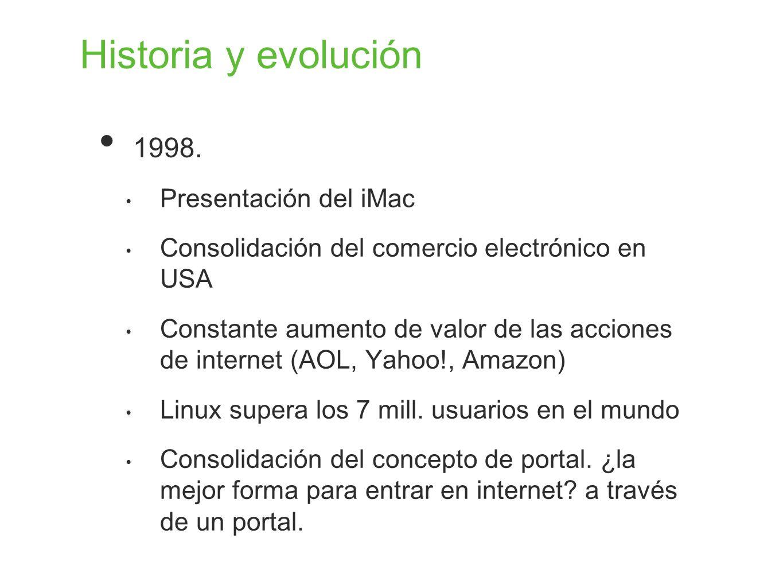 Historia y evolución 1998. Presentación del iMac