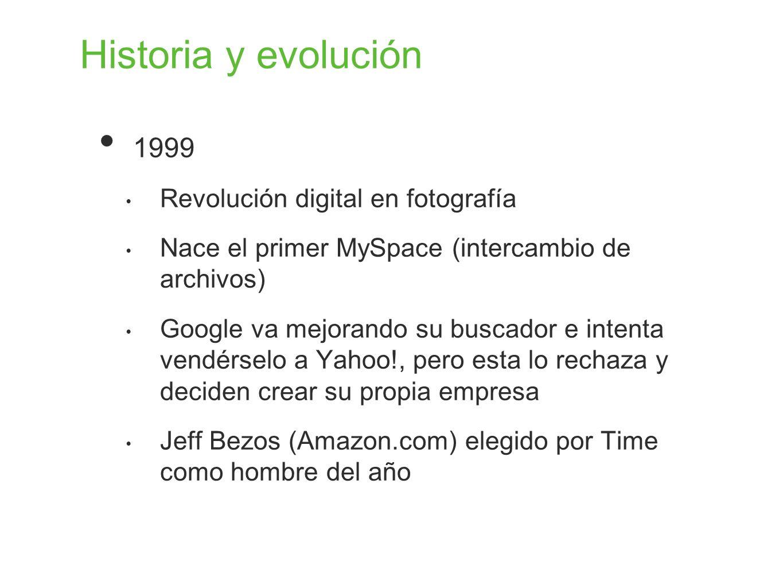 Historia y evolución 1999 Revolución digital en fotografía