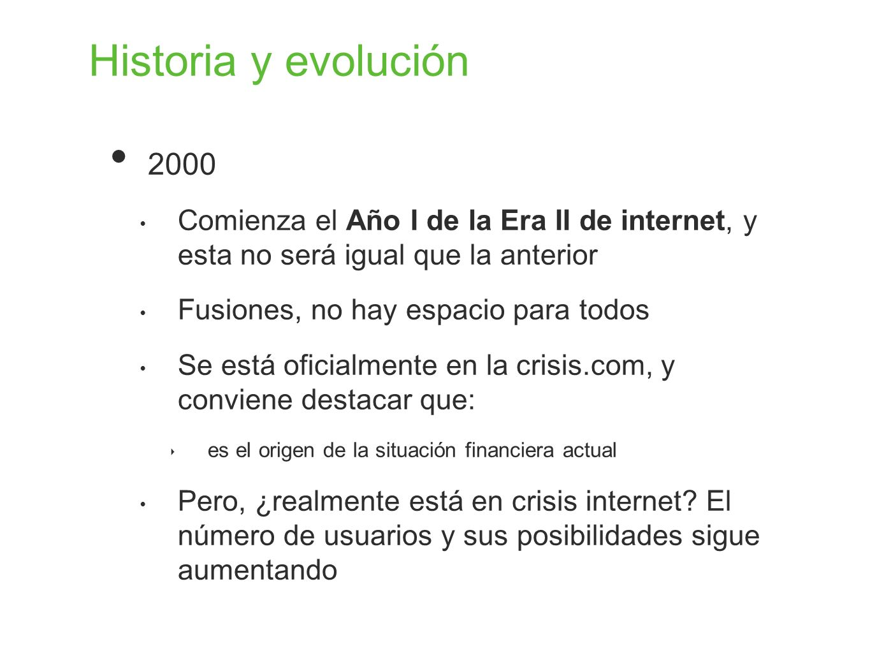 Historia y evolución 2000. Comienza el Año I de la Era II de internet, y esta no será igual que la anterior.