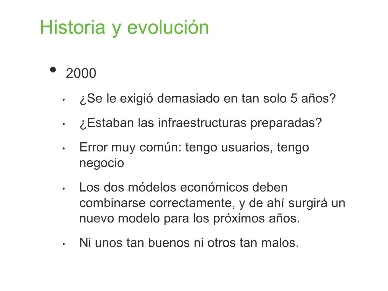 Historia y evolución 2000 ¿Se le exigió demasiado en tan solo 5 años