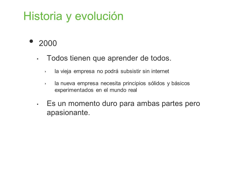 Historia y evolución 2000 Todos tienen que aprender de todos.