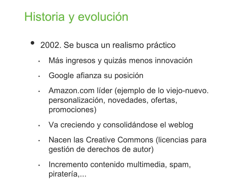 Historia y evolución 2002. Se busca un realismo práctico