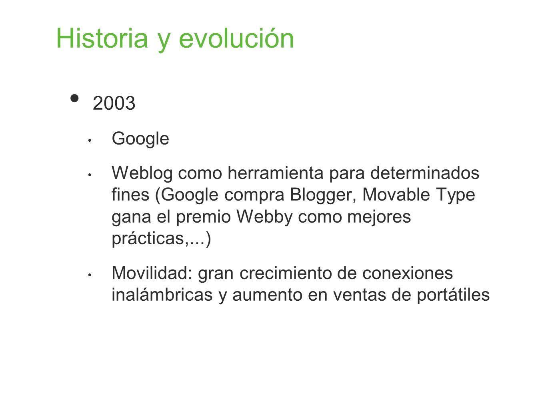 Historia y evolución 2003 Google