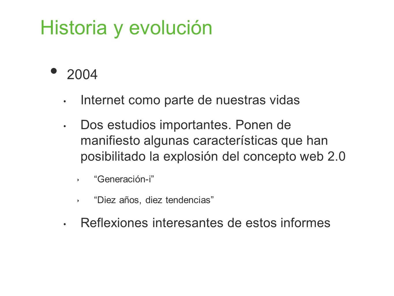 Historia y evolución 2004 Internet como parte de nuestras vidas