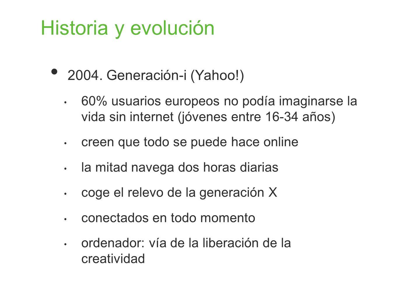 Historia y evolución 2004. Generación-i (Yahoo!)