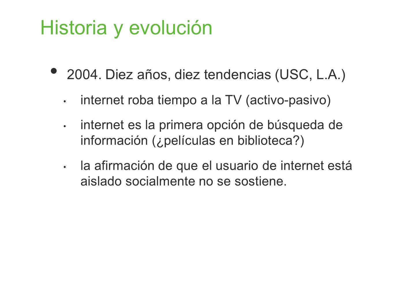 Historia y evolución 2004. Diez años, diez tendencias (USC, L.A.)