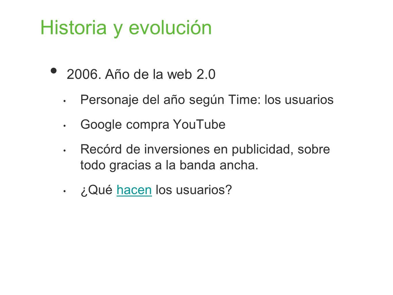 Historia y evolución 2006. Año de la web 2.0
