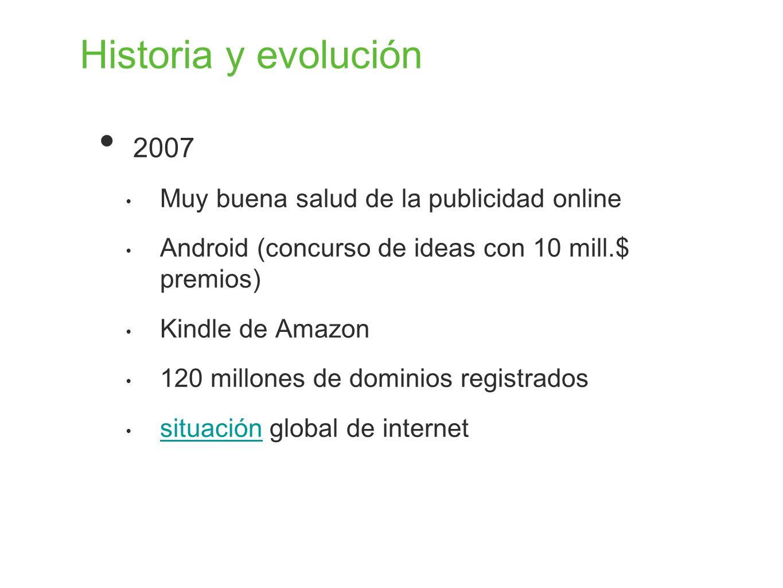 Historia y evolución 2007 Muy buena salud de la publicidad online