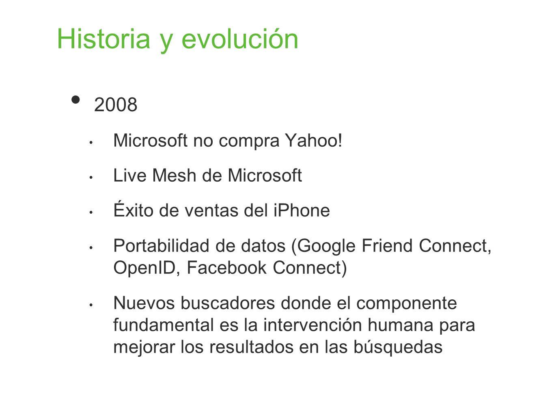 Historia y evolución 2008 Microsoft no compra Yahoo!