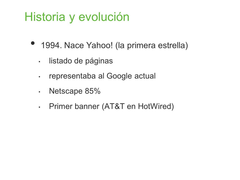 Historia y evolución 1994. Nace Yahoo! (la primera estrella)