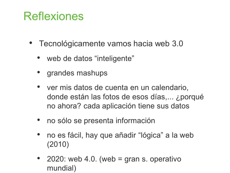 Reflexiones Tecnológicamente vamos hacia web 3.0