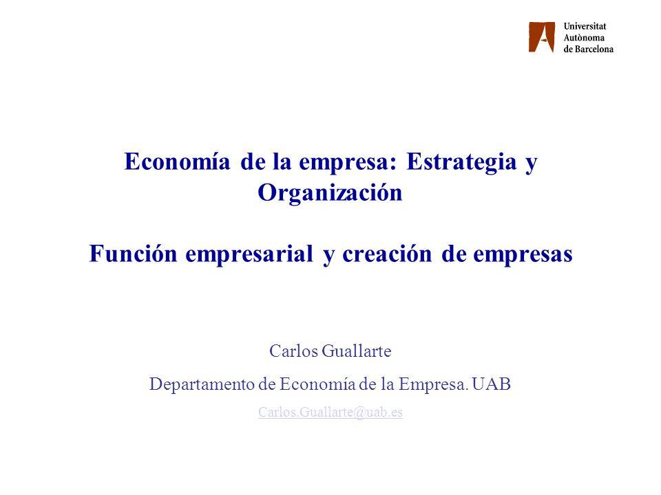 Departamento de Economía de la Empresa. UAB